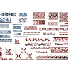 Patterns for Embroidery Stitch vector image vector image