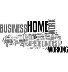 work at home business opportunities thrive in vector image