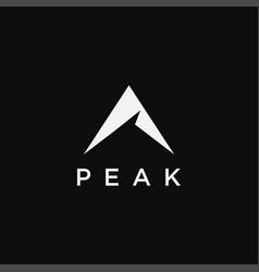 Abstract mountain peak logo icon template vector