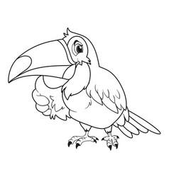 Animal outline for toucan bird vector