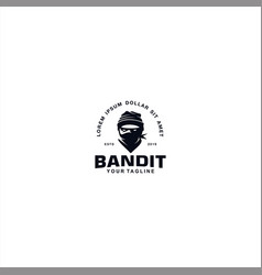 Bandit logo design template inspiration vector