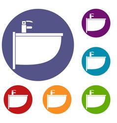 bidet icons set vector image