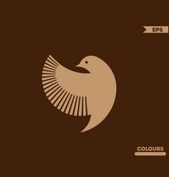 Bird side logo vector