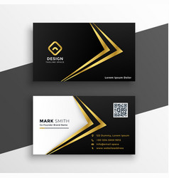 black and gold premium luxury business card design vector image