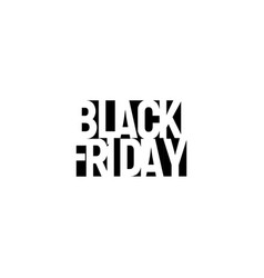 black friday sign shopping day logo black vector image
