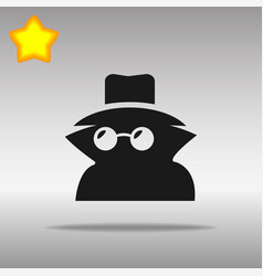 Black incognito icon button logo symbol vector