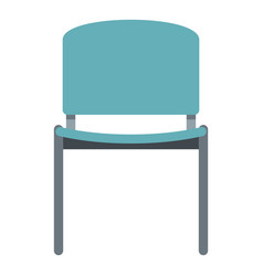 Blue office metal chair icon isolated vector