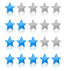 Blue stars rating levels vector