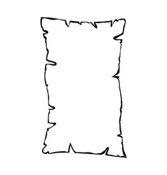 Burned old paper parchment outline silhouette vector