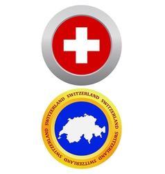 button as a symbol SWITZERLAND vector image