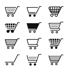 cart icon for shop trolley for shopping add vector image
