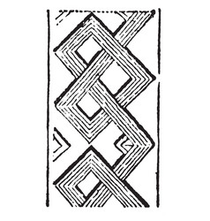 Carved interlace pattern are especially in the vector