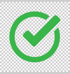 Check mark icon in flat style ok accept on vector