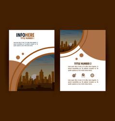 city brochure infographic vector image