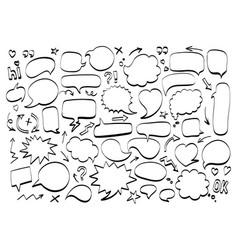 comic speech bubble doodle icon text message vector image