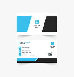 Corporate creative business card design vector
