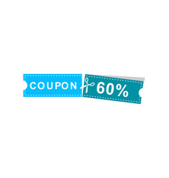 coupons discount banner 60 offers vector image