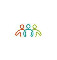 creative three people logo vector image