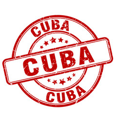 Cuba red grunge round vintage rubber stamp vector