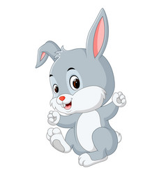 Cute baby rabbit cartoon vector