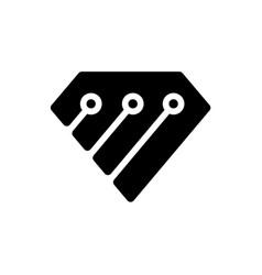 diamond tech logo design template creative vector image