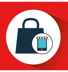 Digital e-commerce bag gift design icon vector