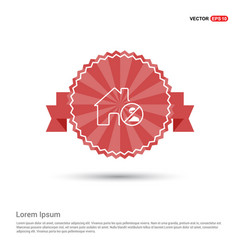 do not enter icon - red ribbon banner vector image