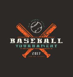 emblem baseball tournament vector image