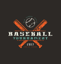 Emblem of baseball tournament vector