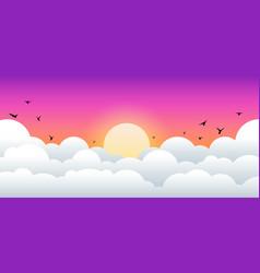 evening sunrise and sunset landscape vector image