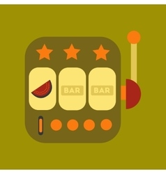 flat icon on stylish background slot machine vector image