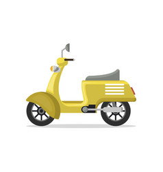 Food delivery moped isolated icon vector