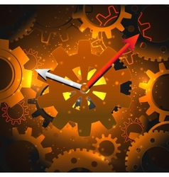 Gears clock background vector image