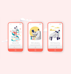 Genome dna experimental lab character mobile app vector