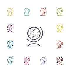 Globe flat icons set vector