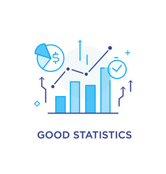 Growth indicators diagrams training business vector