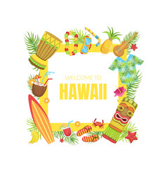 hawaii travel banner template with travelling vector image