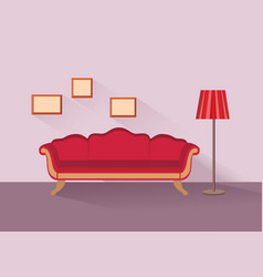 Home lounge interior living room furniture vector