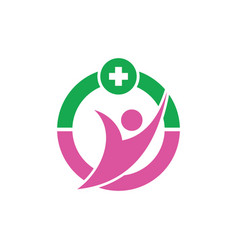 human healthcare logo image vector image