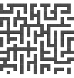 Infinite maze seamless background pattern vector image