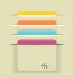 Inserted paper cards vector