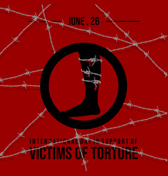 International day in support victims torture vector