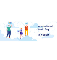 International youth day august 12 colorful vector