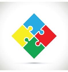 jigsaw colourful vector image