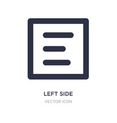 Left side alignment icon on white background vector