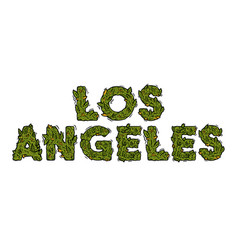 Lettering design weed inscription los angeles vector