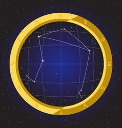 libra star horoscope zodiac in fish eye vector image