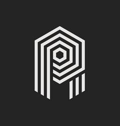 logo letter r vector image