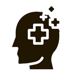 medicine crosses man silhouette headache vector image