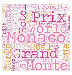 Monaco Grand Prix May 28 text background wordcloud vector